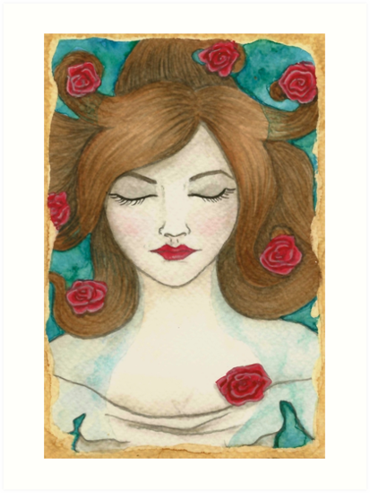 Ophelia - Covered by Roses by Victoria Thorpe