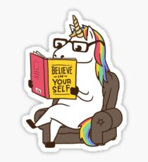 Unicorn Believe in Yourself Magical Fabulous Sticker