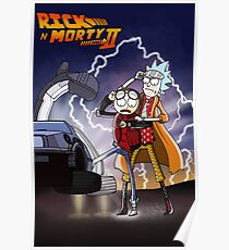 Rick & Morty - Back To The Future Crossover Mashup Poster