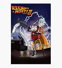 Rick & Morty - Back To The Future Crossover Mashup Photographic Print