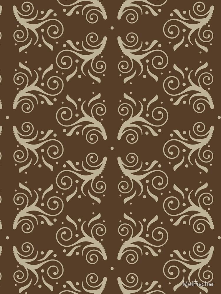 Flourish Pattern in Brown by MelFischer