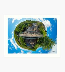 Footbridge over Glen River, Carrick, SW Donegal Art Print