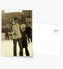 Ice skaters Postkarten