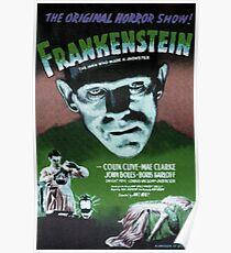 Frankenstein movie poster green Poster
