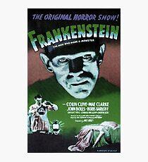 Frankenstein movie poster green Photographic Print