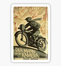 Soviet Film Poster - The Man with a Movie Camera (1929) Sticker