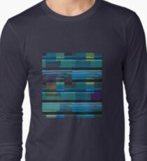 Bright horizontal lines forming rectangles  Long Sleeve T-Shirt