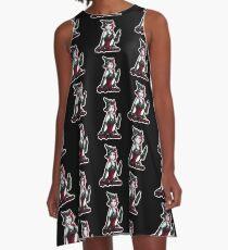 Lady Crimson (Black Designs) A-Line Dress