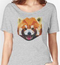 Red Panda Tee Shirt Women's Relaxed Fit T-Shirt