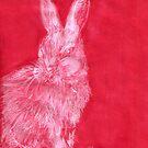 White Rabbit (Monochromatic Hue Series) by Mui-Ling Teh