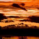 Sunset on Taupo lake  by supermimai