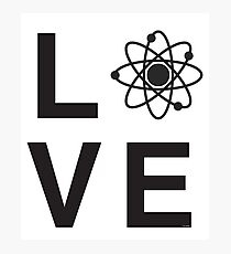 ATOMIC SCIENCE LOVE Photographic Print