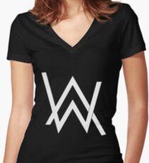 ALAN WALKER Women's Fitted V-Neck T-Shirt