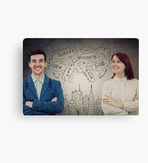 confident man and woman Canvas Print