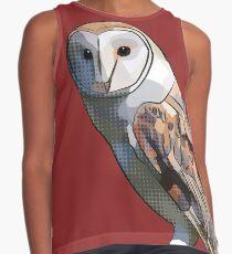 Pop Art Barn Owl (Owly McHoot-Hoot) Contrast Tank