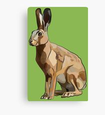Hattie's Hare (Spring Hare Easter Bunny) Canvas Print