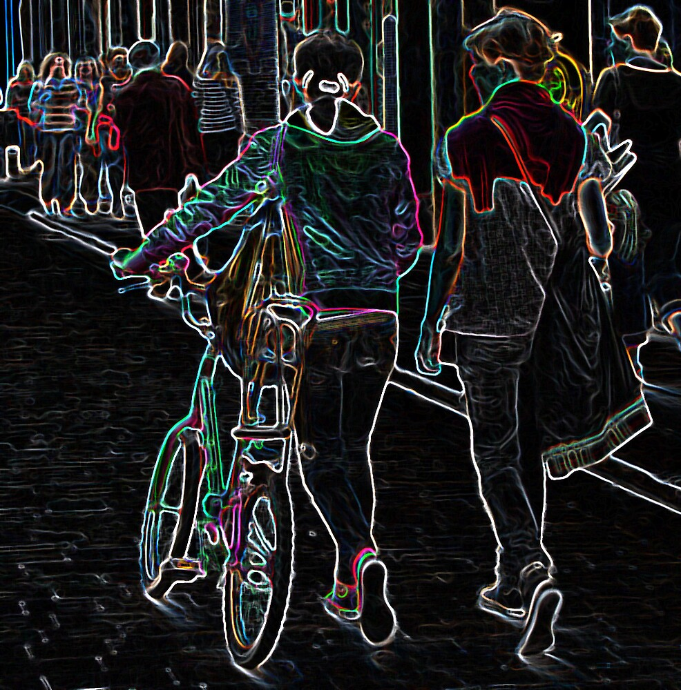 Neon bike by Vicent Alcaraz Coll
