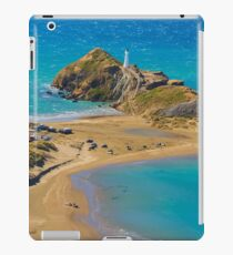 White lighthouse, location - Castlepoint, New Zealand iPad Case/Skin