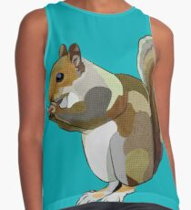Pop Art Squirrel (Nutty McNibbles) Contrast Tank