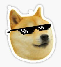 Doge Deal With It meme Sticker