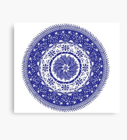 Blue and White Mandala  Canvas Print