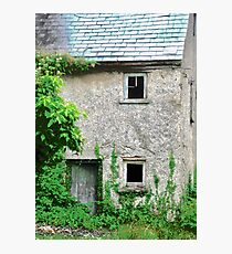Abandoned Stone House, Glenalla, Donegal, Ireland Photographic Print
