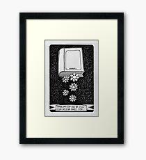 Book and flower  Framed Print
