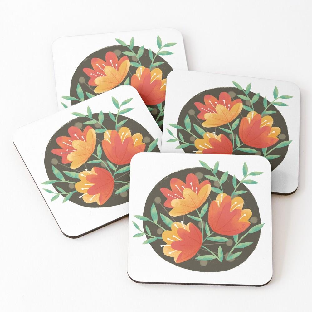 Afternoon Blooms Coasters (Set of 4)