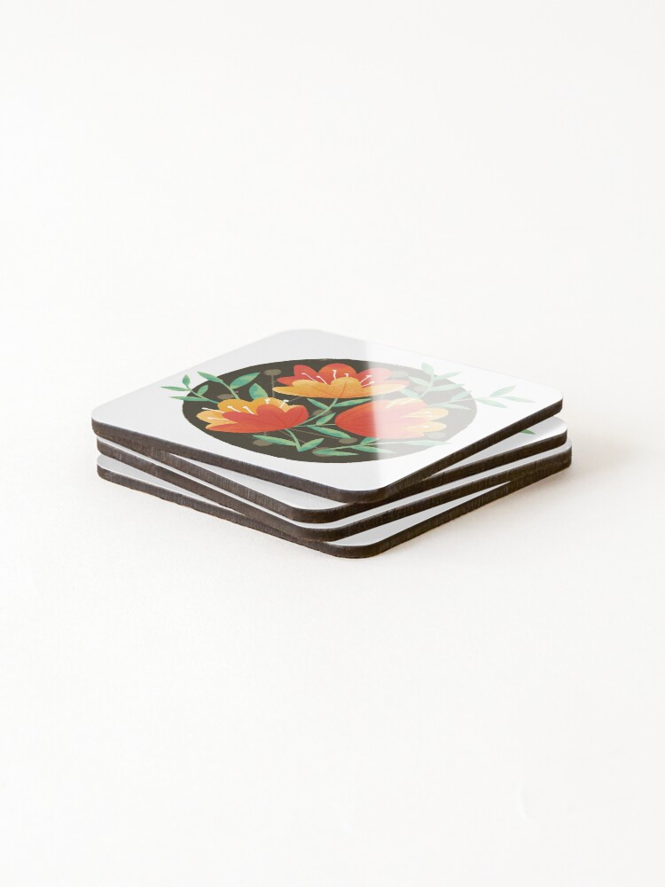 Alternate view of Afternoon Blooms Coasters (Set of 4)