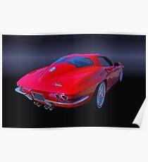 1963 Split Window Corvette Poster