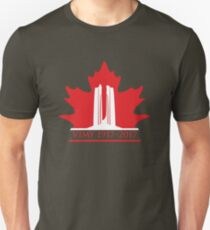 Vimy Memorial on Blazing Maple Unisex T-Shirt