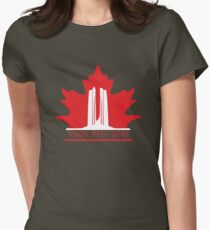 Vimy Memorial on Blazing Maple Womens Fitted T-Shirt