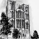 Ripon Cathedral - ink sketch by FantasticMagic