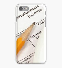 A close up image of a tax preparation scene iPhone Case/Skin