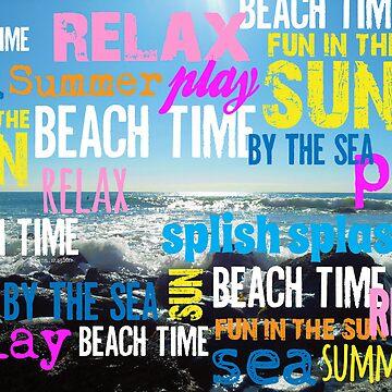 Summer Beach Time Fun  by ArtVixen
