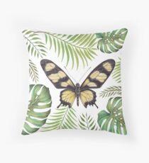 Hahnel's Amazonian Swallowtail by Magda Opoka Throw Pillow