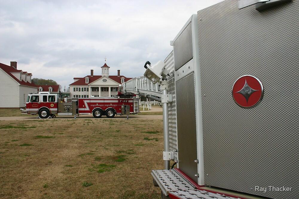 Crimson Fire Truck by Ray Thacker