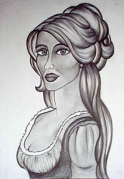 Sketch of woman by vivianne