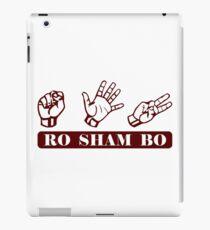 Ro Sham Bo - Rock Paper Scissors iPad Case/Skin