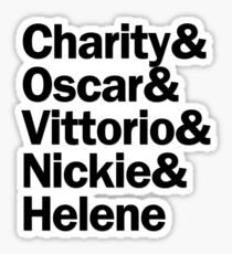 Sweet Charity Characters | Black Sticker