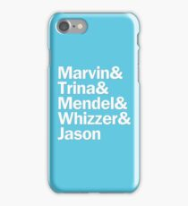 Falsettos Characters | White & Blue iPhone Case/Skin