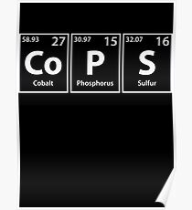 Cops (Co-P-S) Periodic Elements Spelling Poster