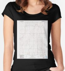 USGS TOPO Map Colorado CO Sunnydale 234660 1949 24000 Women's Fitted Scoop T-Shirt