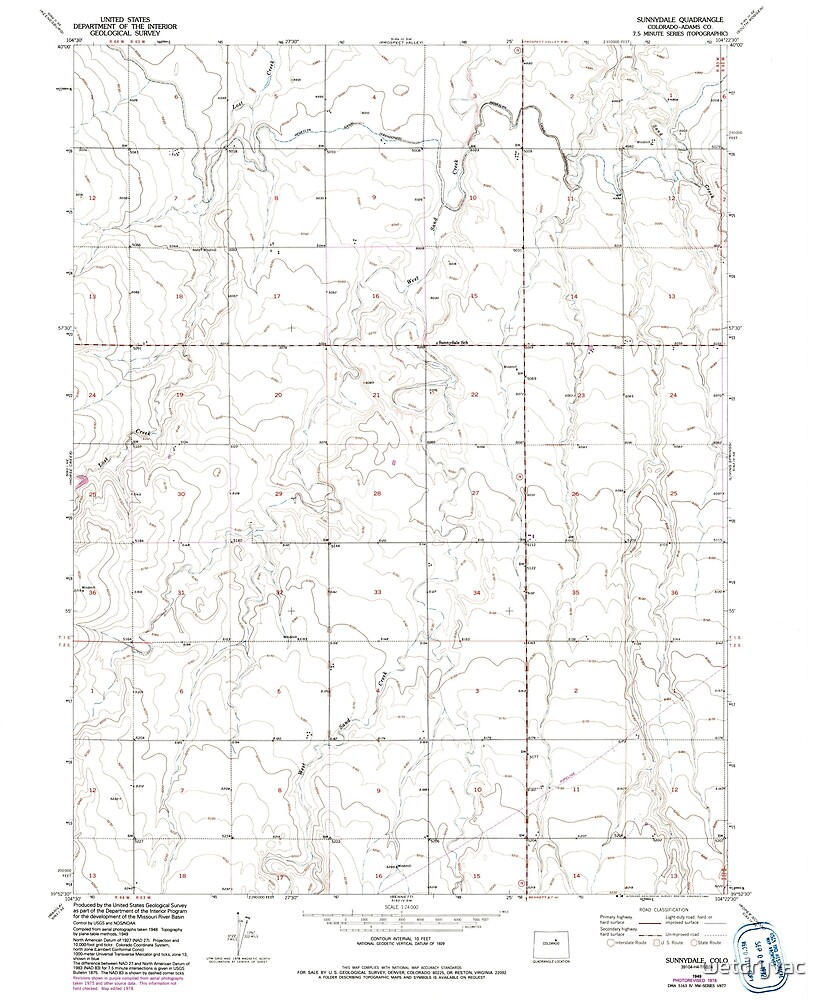 USGS TOPO Map Colorado CO Sunnydale 234660 1949 24000 by wetdryvac