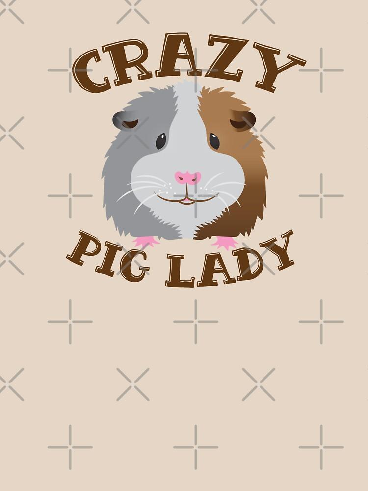 CRAZY pig Lady (guinea pig)  by jazzydevil