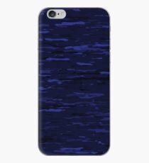 Navy Blue Camo Print iPhone Case