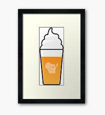 Beer Latte Wis-Kid Framed Print