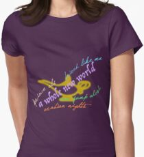 Aladdin songs Womens Fitted T-Shirt