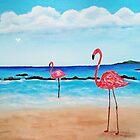 Pink Flamingos  by WhiteDove Studio kj gordon