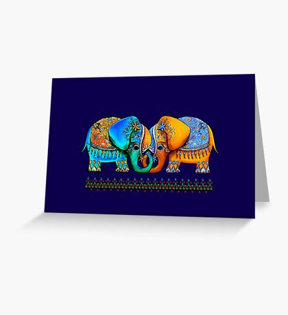 Littlest Elephant Love Links Greeting Card